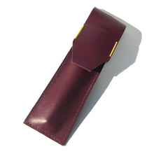 Load image into Gallery viewer, Pen Case, Burgundy leather