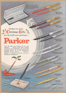 Vintage Magazine Advertising : Christmas Gifts Parker