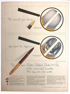 Parker 51, new Electro-Polished, MacLean's Magazine, September 15,1954