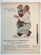 Vintage Magazine Advertising ; Parker 61, Capillary Pen