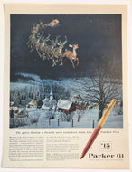 Vintage Magazine Advertising ; Parker 61, Santa