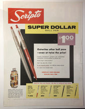 Load image into Gallery viewer, Scripto, Dollar pen, Life Magazine August 25, 1958