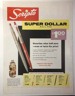 Scripto, Dollar pen, Life Magazine August 25, 1958