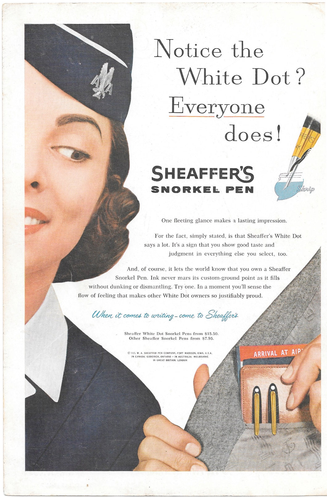 National Geographic Advertising, Sheaffer's Snorkel