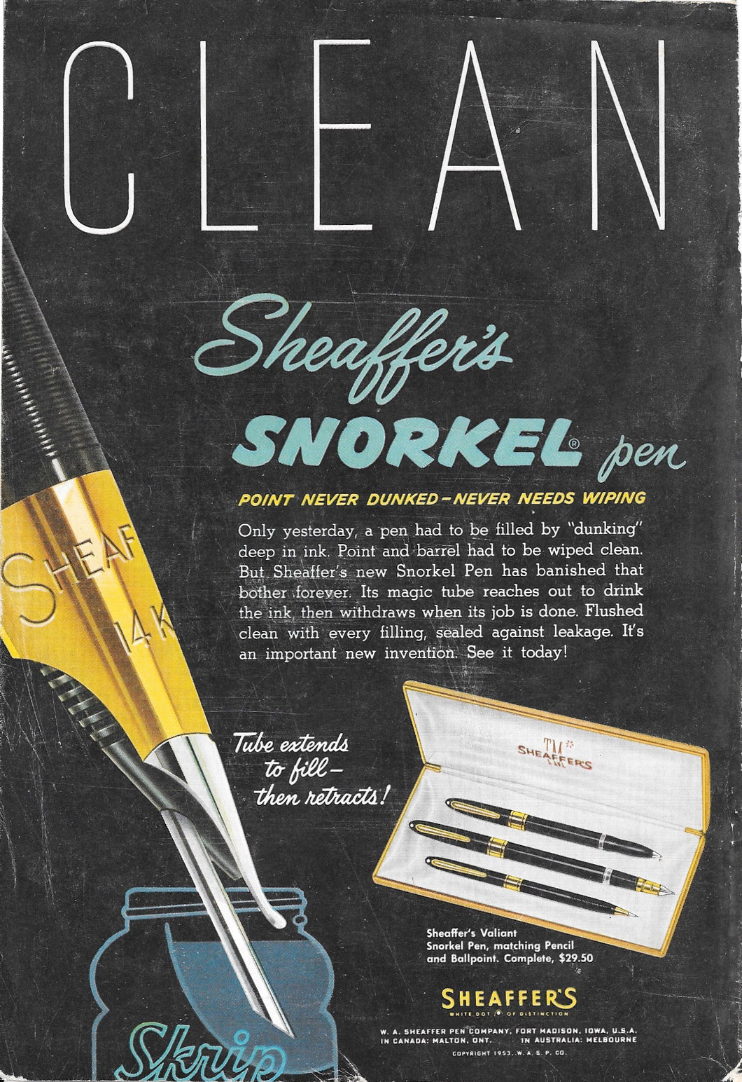 Sheaffer's Valiant TM Snorkel