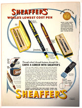Load image into Gallery viewer, Vintage Magazine Advertising ; Sheaffer's, Visulated