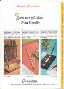 Sheaffer's Gift Ideas, Copr. 1965