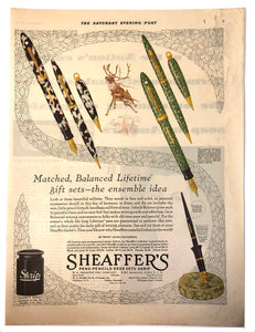 Vintage Magazine Advertising ; Sheaffer's Balance 1929
