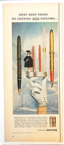 Vintage Magazine Advertising ; Lady Sheaffer, her Diploma
