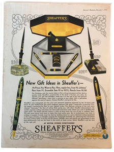 Vintage Magazine Advertising ; Sheaffer's Lifetime