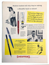 Load image into Gallery viewer, Vintage Magazine Advertising ; Sheaffer's Skripsert, accessories