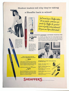 Vintage Magazine Advertising ; Sheaffer's Skripsert, accessories