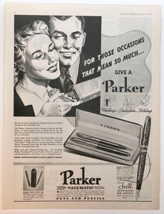 Parker Vacumatic, Maclean's Magazine, June 15, 1941