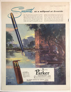 Vintage Magazine Advertising ; Parker Vacumatic, Active Service set