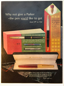 Vintage Magazine Advertising ; Parker VP