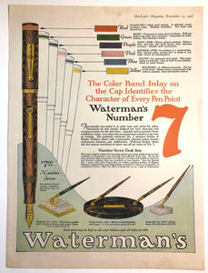 Waterman's Ripple The colour band inlay, MacLean's Magazine, November 15, 1928
