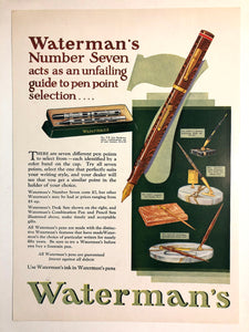 Waterman's No. 7 guide to point selection