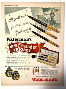 Waterman's Crusader Trioset, Maclean's Magazine, August 15,1949