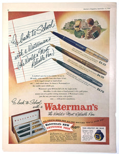 Waterman's, Maclean's Magazine, September 15, 1949