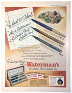 Vintage Magazine Advertising ; Waterman's