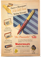 Vintage Magazine Advertising ; Waterman's Crusader