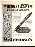 Vintage Magazine Advertising ; Waterman's Hundred Year Pen