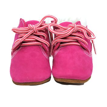 Chaussons bébé cuir - Bottines roses - Kerbaby
