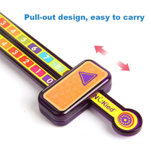 Load image into Gallery viewer, Math Toys Digital Decomposition Ruler Pump Pulling Ruler Science Learn Educational Montessori Numbers Matching Kids Toy Gifts