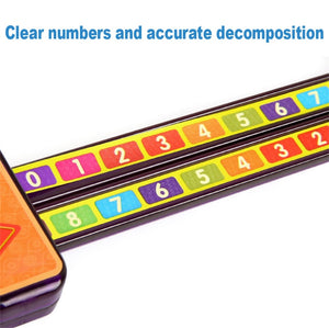 Math Toys Digital Decomposition Ruler Pump Pulling Ruler Science Learn Educational Montessori Numbers Matching Kids Toy Gifts