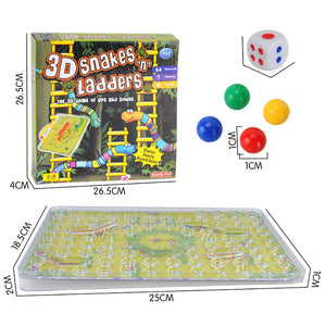 Traditional 3d Snakes Ladders Family Board Game Toy For Kid Gifts Night Fun Sistema Solar Tecnologia Technology Gadgets Stem Toy