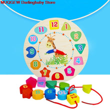Load image into Gallery viewer, Montessori Infant Children Educational Wooden Clock Beaded Beads Intelligence Learning Education Birthday Gift Block Math Toys