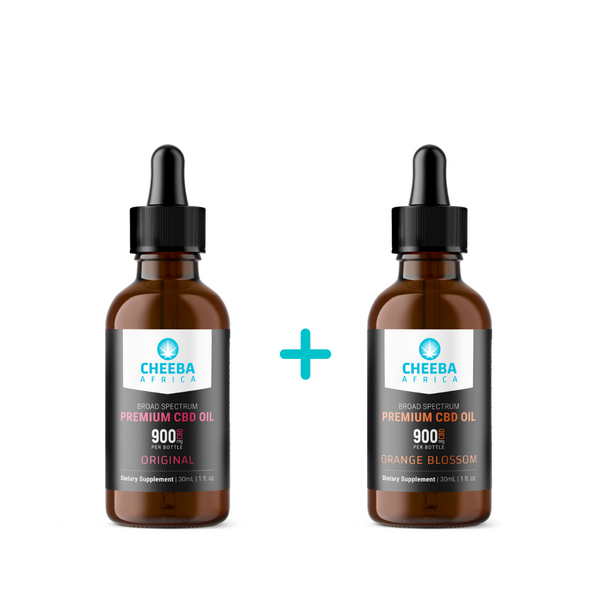 SAVE R160 - CBD Oil Tincture Original & Orange Blossom 900mg - 30ml