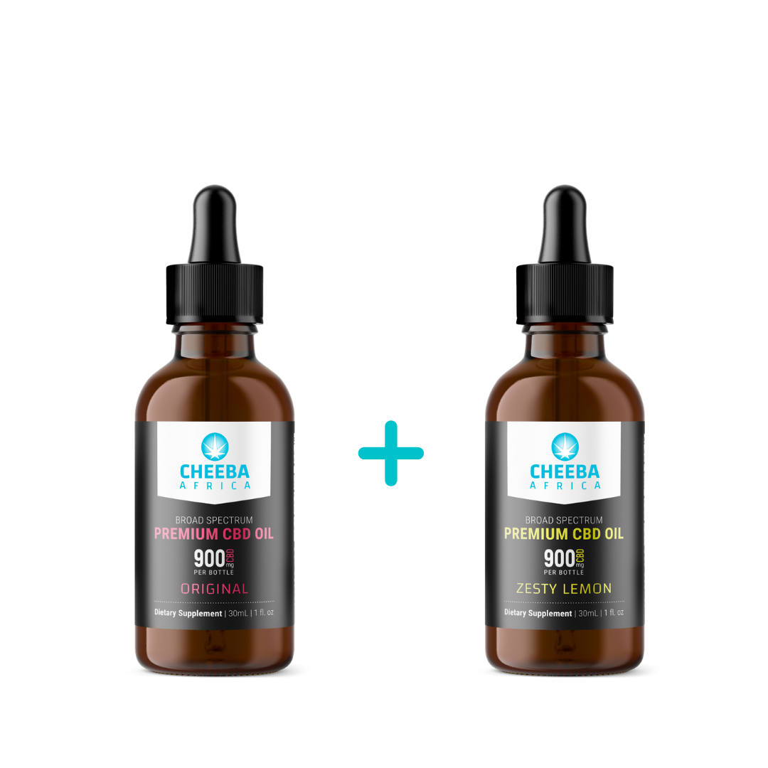 SAVE R160 - CBD Oil Tincture Original & Zesty Lemon 900mg - 30ml
