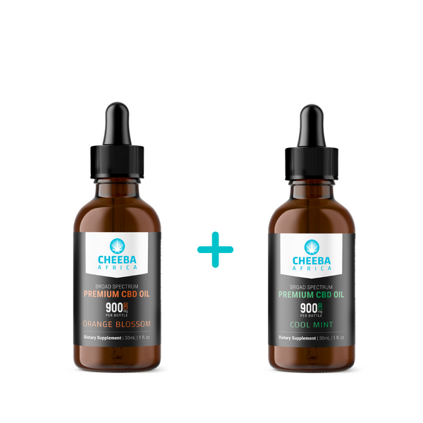 SAVE R160 - CBD Oil Tincture Cool Mint & Orange Blossom 900mg - 30ml
