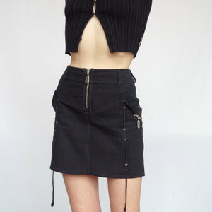 Vintage Versus By Versace 90s Denim Mini Skirt
