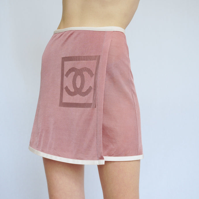 Rare Vintage Chanel Resort Mesh Wrap Skirt
