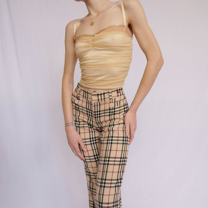 2000s Burberry Nova Check Trousers