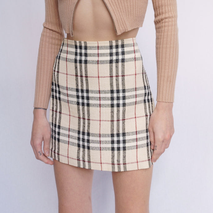 Burberry Nova Check Mini Skirt