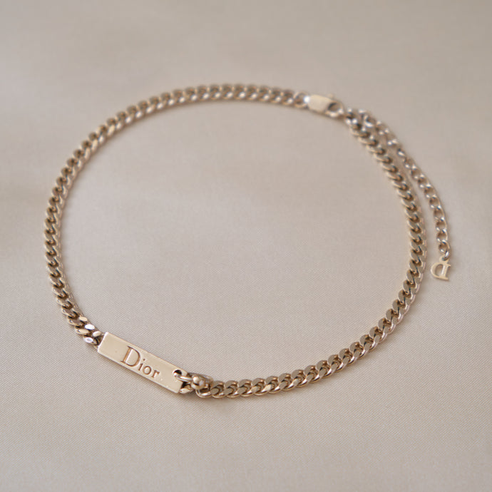 Iconic Gold Toned Christian Dior 2001 Piercing Collection Choker
