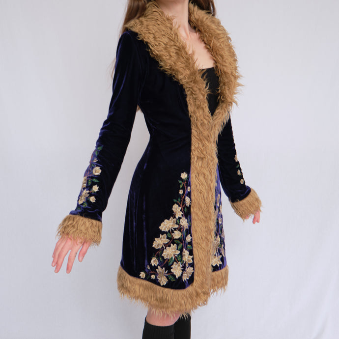 Betsey Johnson Velvet Penny Lane Style Coat