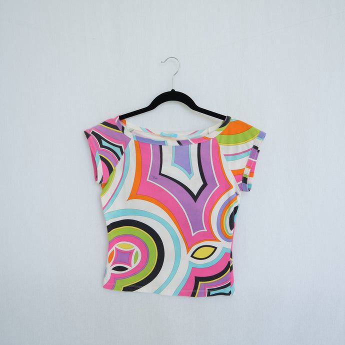 Emilio Pucci Abstract Baby T-shirt