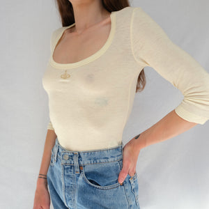BNWT Archived Vivienne Westwood Cream Top