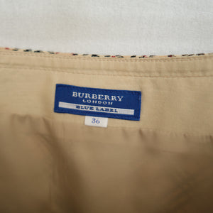 2000s Burberry Pleated Mini Skirt