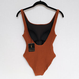 BNWT Archived Vintage Yves Saint Laurent Swimsuit With Gold Logo