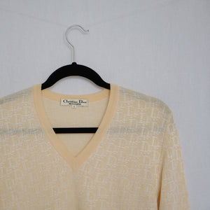Vintage Christian Dior Monogram Knit Sweater