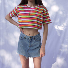 Load image into Gallery viewer, YSL Candy Striped Embroidered Baby Tee