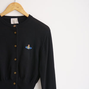 Vintage Vivienne Westwood Black Orb Embroidered Cardigan