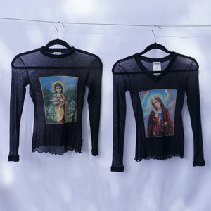 Rare Dolce and Gabbana 1990s Madonna Mesh Top
