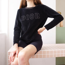 Load image into Gallery viewer, Vintage Christian Dior Velvet Sweatshirt