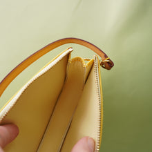 Load image into Gallery viewer, Rare Vintage Louis Vuitton Yellow Vernis Pochette